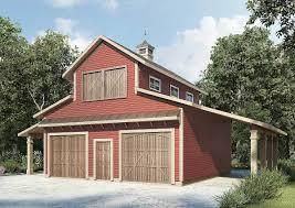 barn like 2 car workshop plan 36056dk architectural designs