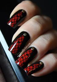 45 stylish red and black nail designs black nails red nails