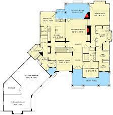 Craftsman Cottage Floor Plans Elegant Master Down Craftsman House Plan 93072el Architectural