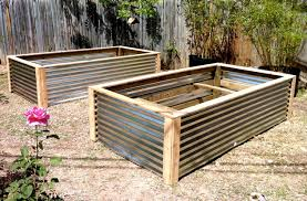 Corrugated Metal Planters by Raised Vegetable Beds Contemporary Landscape Austin By