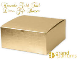 gold foil gift boxes 12 gold linen foil gift boxes upscale sturdy metallic 8