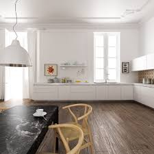 kitchen brown chairs brown wooden floor scandinavian kitchen