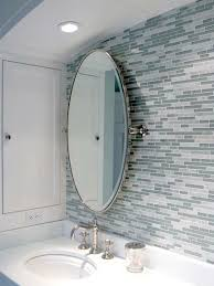 blue gray bathroom ideas bathrooms blue gray linear glass mosaic tiles backsplash oval