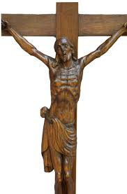 wooden crucifix antique black forest carved wood large wall cross
