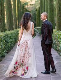 floral wedding dresses bold barcelona wedding reception with a floral dress