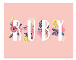 ruby name etsy