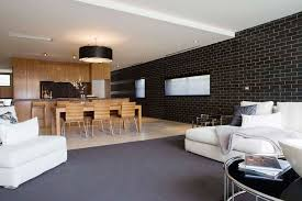 house black brick wall tiles for living room and dining in same