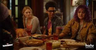 hulu releases a thanksgiving promo for marvel s runaways