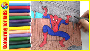 spiderman coloring pages coloring books for kids superhero