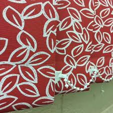 Replacement Vertical Blind Slats Fabric Red Patterned Fabric Vertical Blind Replacement Slats 3 5