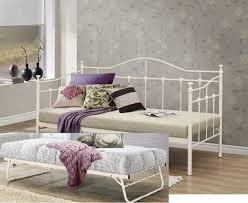 Single Metal Day Bed Frame Birlea Torino 3ft Single Metal Day Bed Frame With Trundle By