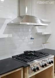 how to build and install floating shelves in a kitchen backsplash