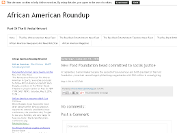 african american roundup new ford foundation head committed to