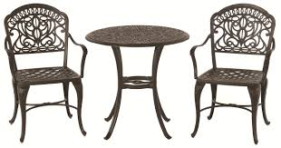 Hanamint Patio Furniture Reviews by Hanamint Tuscany 3 Piece Bistro Set With Ornate Casting And