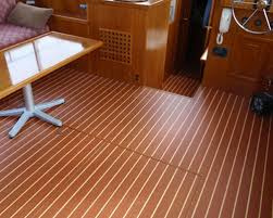 teak interior vinyl flooring on display at fort lauderdale