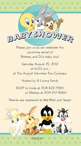 baby looney tunes baby shower invitations iidaemilia