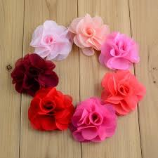 fabric flowers 40pcs embellishment diy fabric flowers chiffon flowers hair