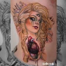 instagram liz cook tattoo dark angel heart by lizcooktattoo on