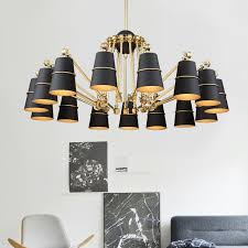 aliexpress com buy modern design iron lampshade chandelier for