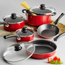 Pots And Pans For Induction Cooktop Tramontina 9 Piece Simple Cooking Nonstick Cookware Set Walmart Com