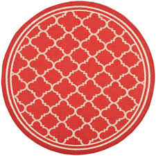 Outdoor Round Rugs by Grund Mandala Knowledge Of Self Series Red 4 Ft X 4 Ft Round