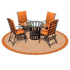 wrought iron dining set 03 3d model formfonts 3d models u0026 textures