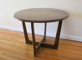 round coffee table and end tables round picked vintage