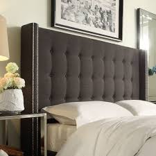 Headboards Tufted Wingback Velvet Upholstered Headboard Hayneedle