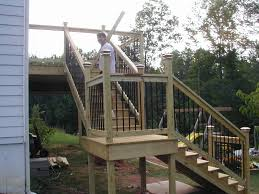 how to build a deck with landing picture plans for deck steps bing