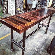 high top table plans high top table barn board pipe base table high top dining table