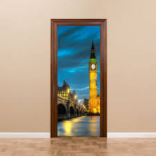 online get cheap wall murals uk aliexpress com alibaba group free shipping uk big ben door wall stickers diy mural bedroom home decor poster pvc waterproof