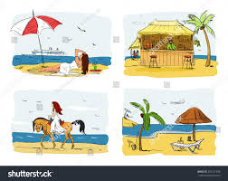 summer holidays on concept vector stock vector 392127556