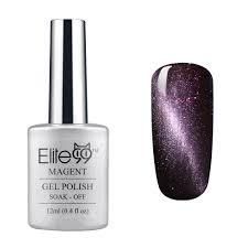 elite99 soak off uv led magnetic cat eye color 3d nail gel polish