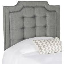 Twin Headboard Upholstered by Shop Safavieh Sapphire Gray Twin Linen Upholstered Headboard At