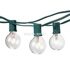 aliexpress com buy 25ft clear globe g40 string light with 25 g40