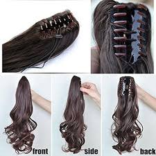 claw clip wave real human hair ponytails hairpiece claw clip ponytail