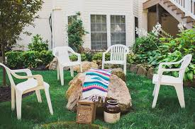 Backyard Engagement Party Decorations by Our Diy Boho Backyard Engagement Party