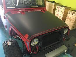 matte black jeep tron style jeep wrangler wrap wrapfolio