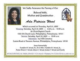 sle funeral programs wording announcement templates selimtd