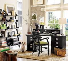 Attractive Modern Home Office Decor With Black Desk Organizer File