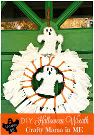 how to make a halloween wreath with mesh ribbon how to make a halloween wreath for under five dollars crafty