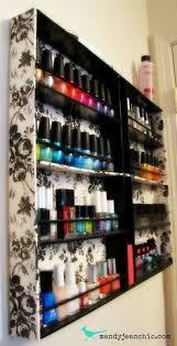 display case 3 tier metal makeup beauty women nail polish storage