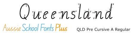 queensland modern cursive style qld cursive and running