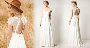 robe de mari e boheme chic robe de mariée bohème chic et chêtre en dentelle et crêpe avec