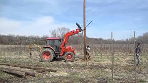Setting Pole Barn Posts Raising The Telephone Pole Youtube