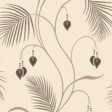 designer interiors moriko floral wallpaper choc cream 75483
