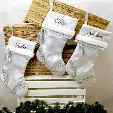 Elegant Christmas Decor Uk by Personalised Christmas Stockings Uk Elegant Christmas Stocking