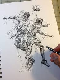 football football pinterest sketches soccer art
