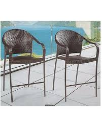 Tall Patio Chairs by Get The Deal Barrington Wicker Tall Outdoor Stacking Patio Bar