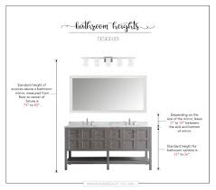 pictures of bathroom vanities and mirrors how high to place your bathroom fixtures inspired to style